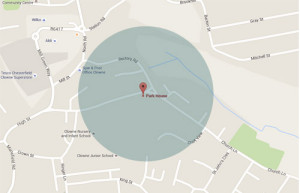 Cleaners in Chesterfield map of area